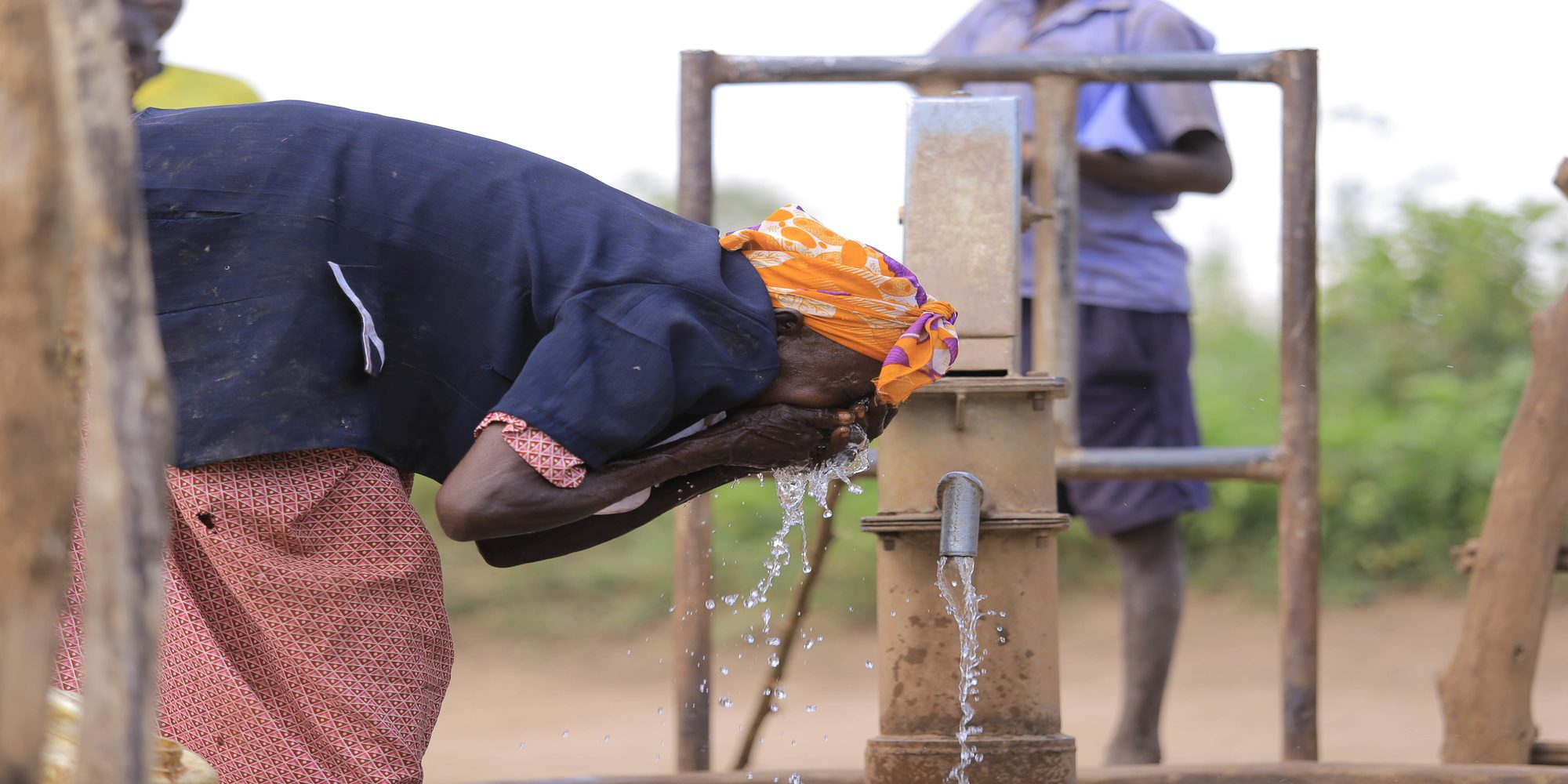 Uganda Women at a Borehole